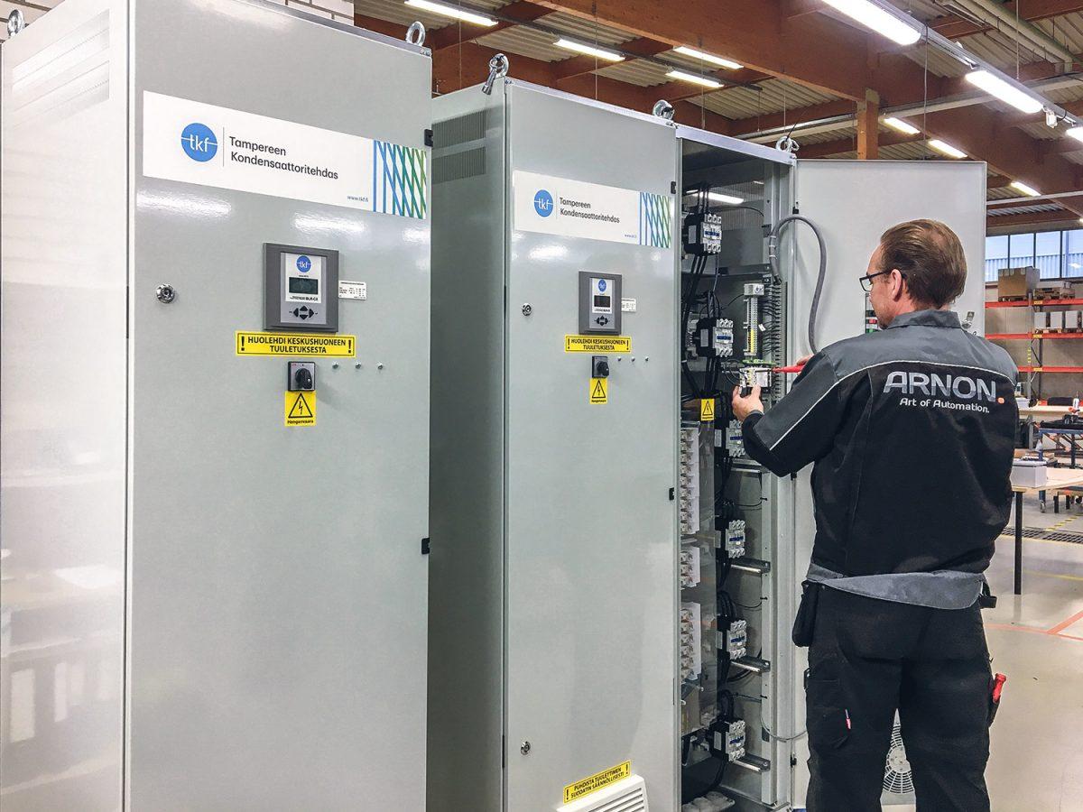 TKF tampereen kondensaattoritehdas loistehon kompensointi